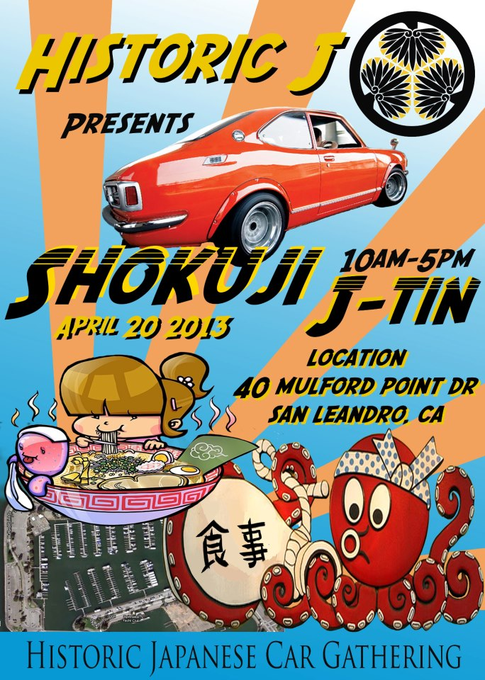 "April 20th, 2013 - Historic Japanese Car Gathering ""Shokuji J-Tin """